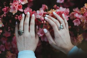 hands and flowers photo